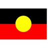 Australian Aboriginal flag, full size 1.8m x 90cm knitted polyester, printed both sides included sister clips