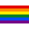 Rainbow Flag, full size 1.8m x 90cm with sister clips, knitted polyester, included standard postage in Australia